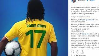 Ronaldinho, Fitipaldi y otros deportistas aplauden a Bolsonaro en Brasil