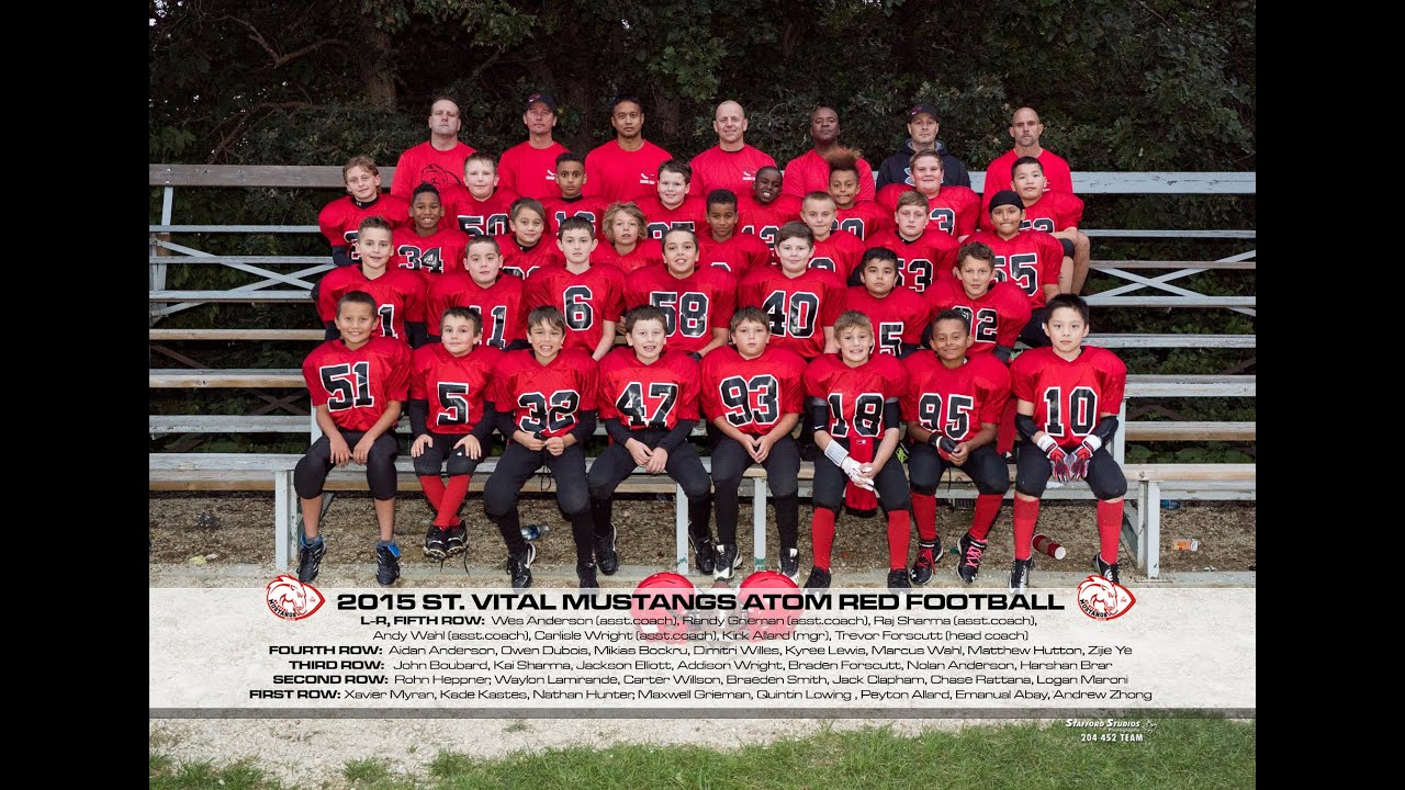 St Vital Football Mustangs Atom Red 2015 Youtube
