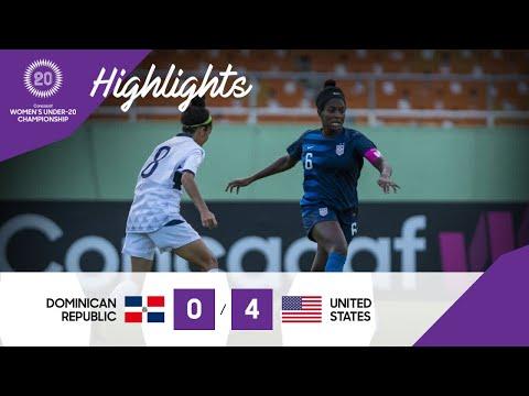 CU20W : Dominican Republic Vs United States   Highlights