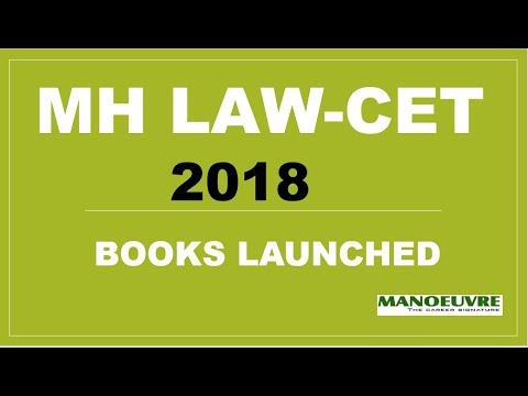 BOOKS LAUNCHED FOR MH LAW-CET | CLAT | SET BY MANOEUVRE