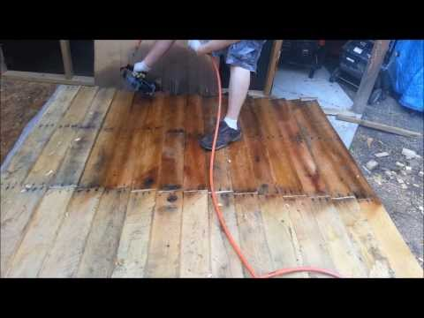 MOTOR OIL STAIN Shed from FREE pallets part 3