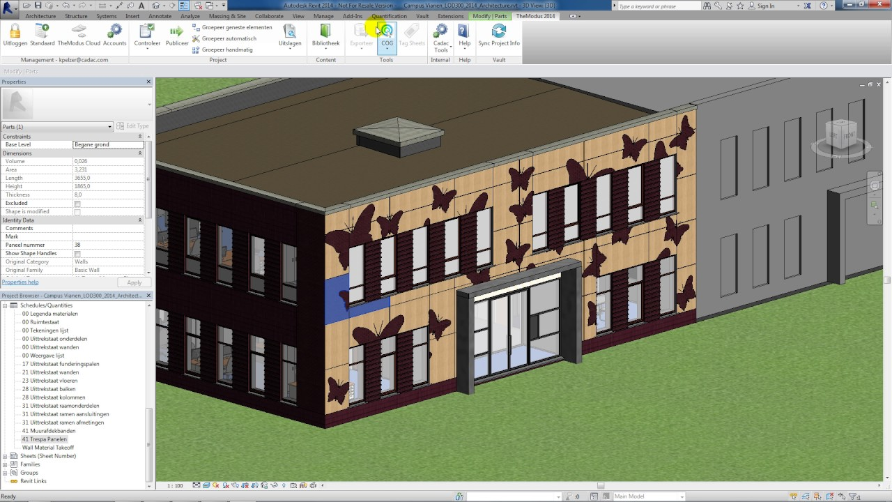 Revit Demo How To Model Exterior Cladding Youtube