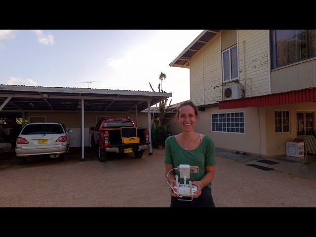 Een Drone-vlucht over Paramaribo