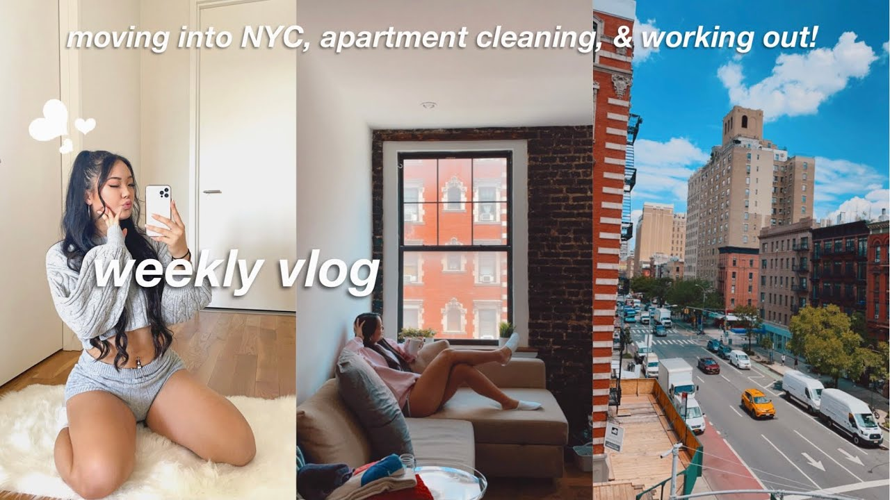 NYC VLOG | moving into my new apartment, going out, & working out!