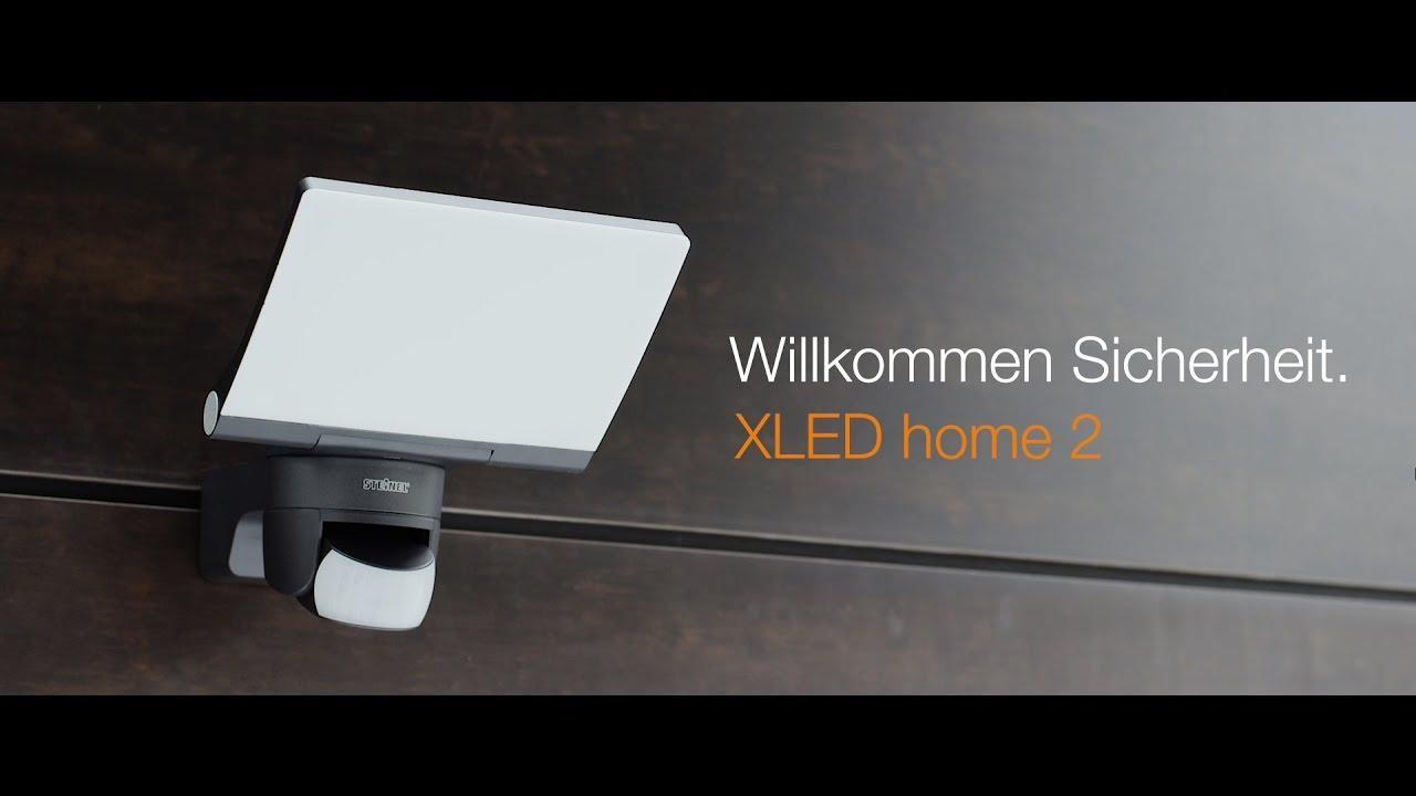 strahler xled home 2 willkommen sicherheit steinel diy youtube. Black Bedroom Furniture Sets. Home Design Ideas