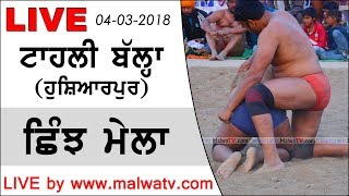 TAHLI BALLA (Hoshiarpur) SHINJH MELA - 2018 || LIVE STREAMED VIDEO