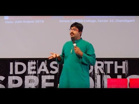 """The power of stories in our world of reality"". | Vikram Sridhar | TEDxGGDSDCollege"