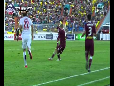 Rubin Kazan vs Spartak Moscow 1 half 2014 Fanat1k ru