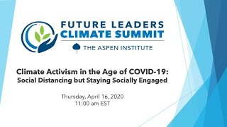 Climate Activism in the Age of COVID-19