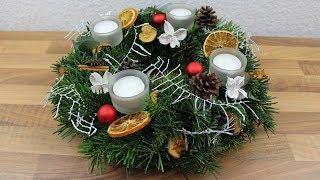 Weihnachtsdeko ❁ Adventskranz ❁ Deko Ideen mit Flora-Shop