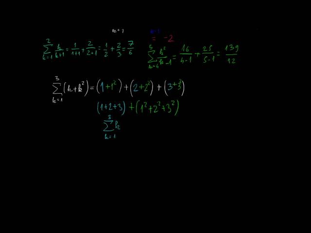 A véges összegek határértéke és a szumma jel 1