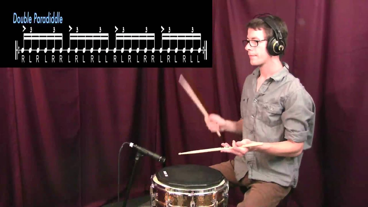 Drum Tutorial| Paradiddle, Double Paradiddle, Triple Paradiddle, and Single Paradiddle-diddle
