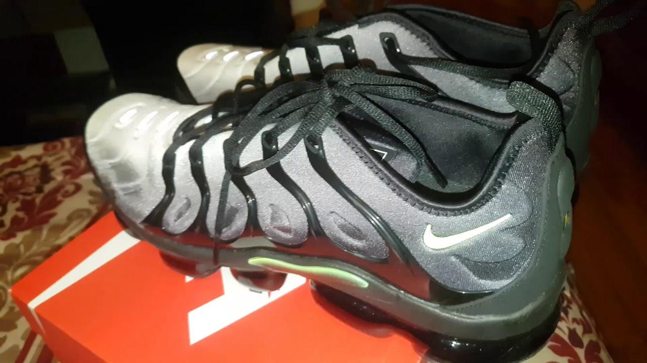 a785ce5301a5a Nike vapormax plus volt on feet - YouTube