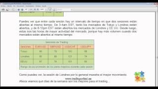 Curso de Forex - 59 de 99 - Horario de los Mercados y las Sesiones de Trading