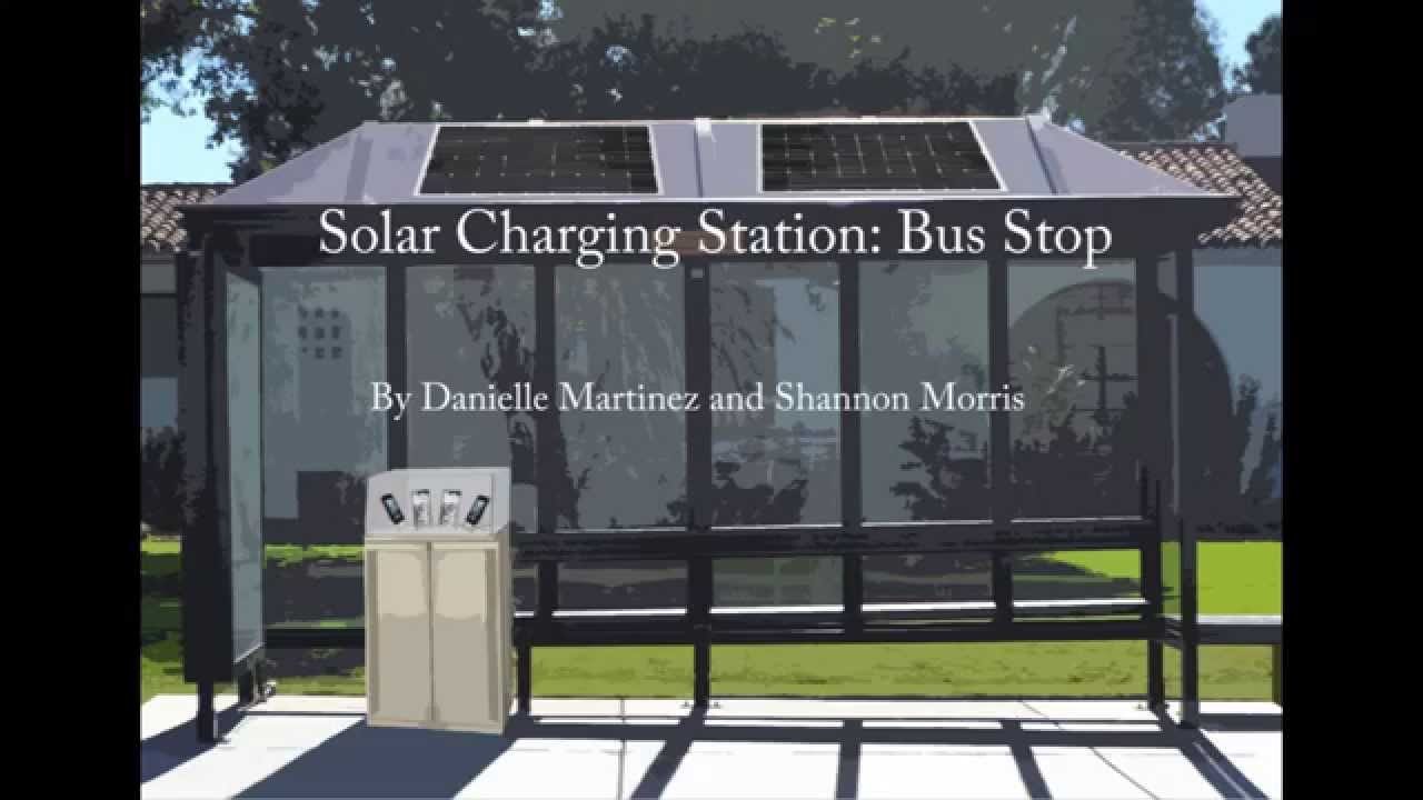 Solar Charging Station Bus Stop Youtube