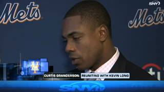 Curtis Granderson on Kevin Long and Citi Field walls