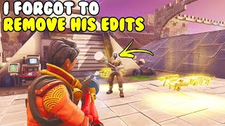 I Forgot To Take Hackers Edits! 😱 (Scammer Gets Scammed) Fortnite Save The World