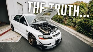 Why i havent been driving my 500hp Evo 8...
