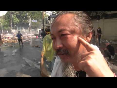 Thai police use water cannon and tear gas on protesters