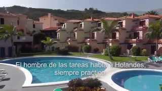 Los apartamentos lago azul en La Palma.