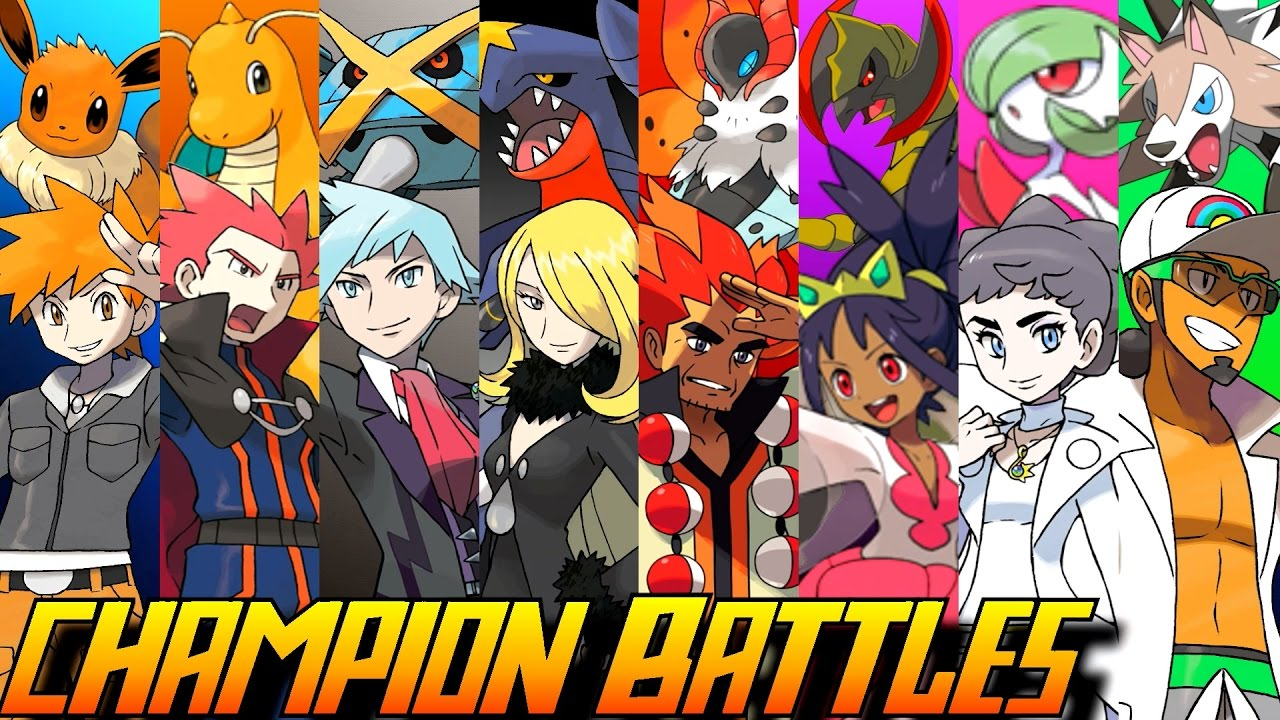 Evolution of Pokémon Champion Battles (1996-2016) - YouTube
