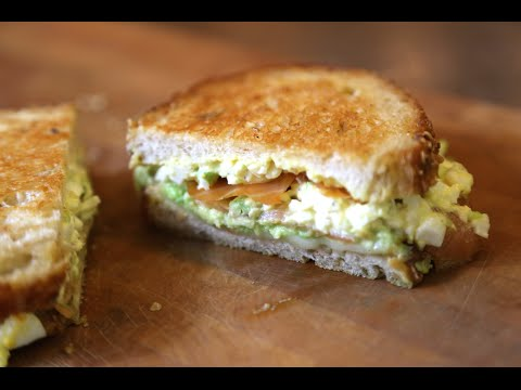 Grilled Lox, Egg Salad & Avo Sandwich   SAM THE COOKING GUY