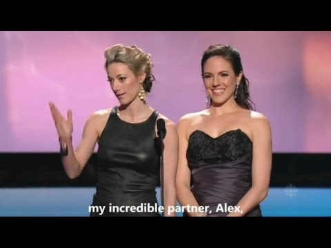 Anna Silk & Zoie Palmer at the Canadian Screen Awards 2014