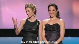 Repeat youtube video Anna Silk & Zoie Palmer at the Canadian Screen Awards 2014