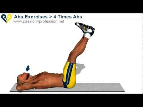 Tập cơ bụng - Cơ bụng dưới - 4 Time abs
