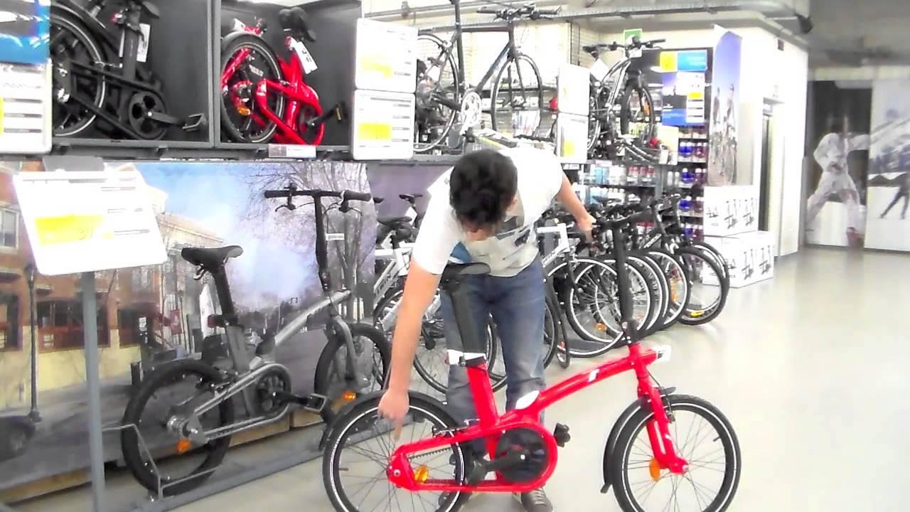 Bici Pieghevole Decathlon B Fold.Bici Pieghevole Tilt By B Twin Youtube