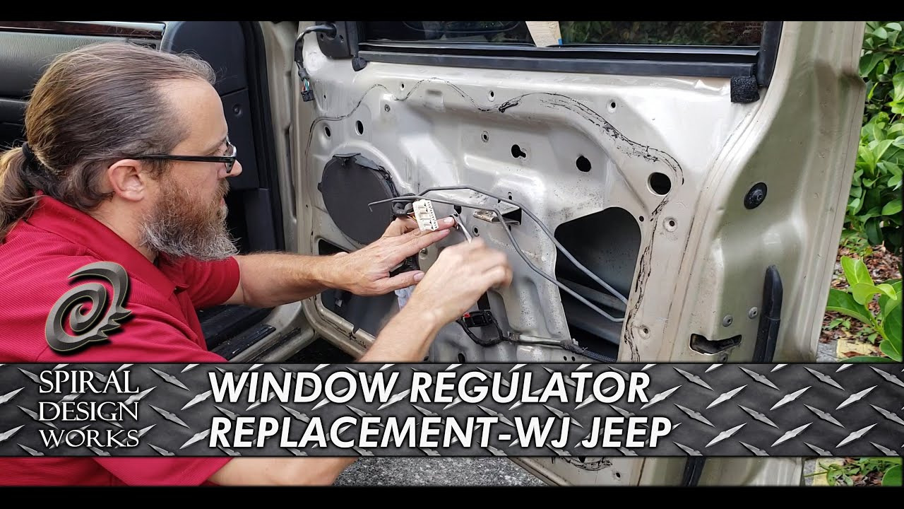small resolution of wj jeep grand cherokee window regulator fix