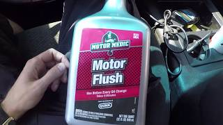 Motor Flush in 5.3L Chevy at Low Oil Pressure warning.