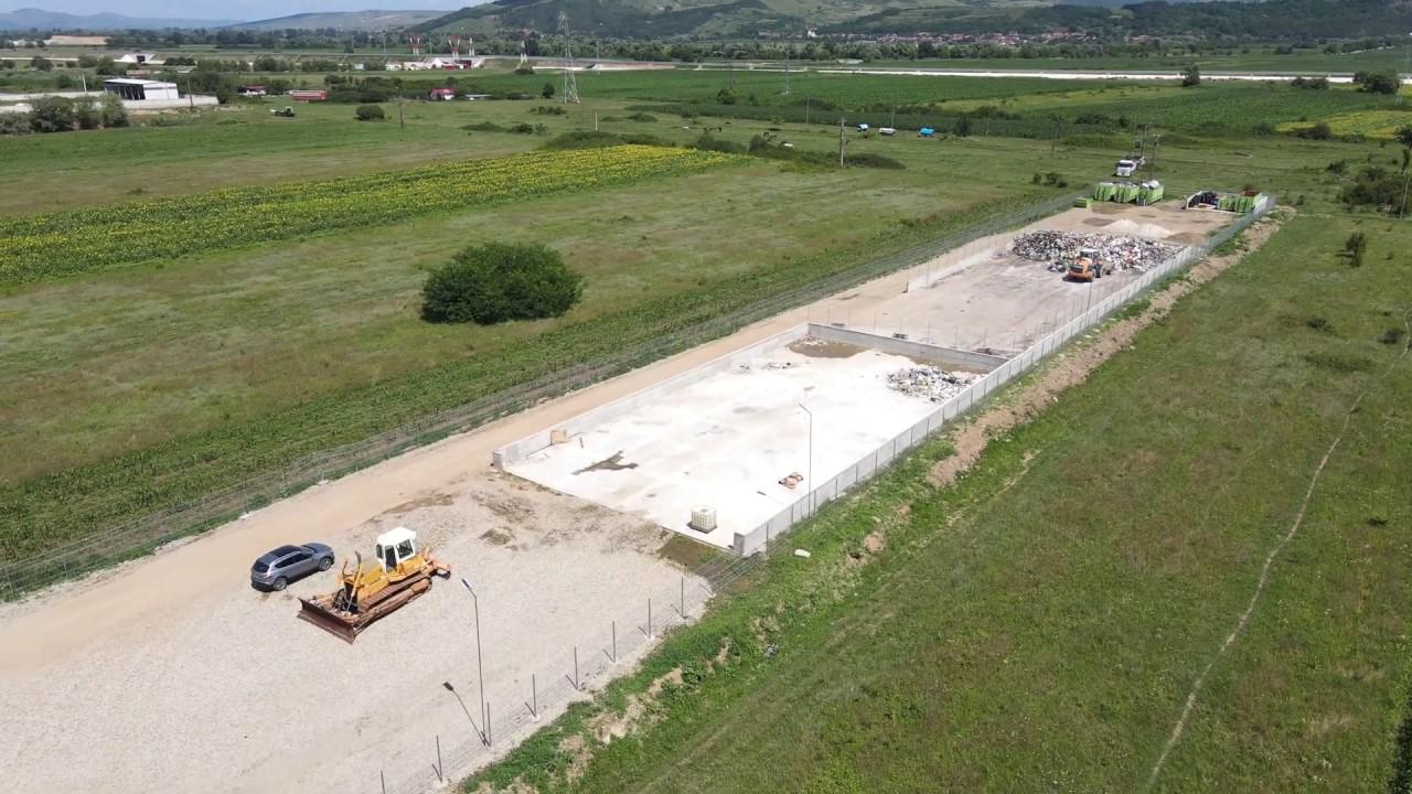 Platforma temporara de depozitare a deseurilor pe soseaua de centura a municipiului Alba Iulia, fina