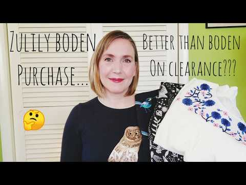 Boden Clothing Purchase at Zulily... Which is Less Expensive? Boden Clearance or Zulily?