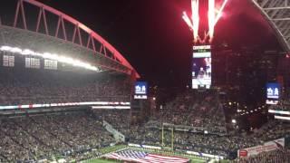 Low Blackhawk Helicopter Flyover Centurylink Field MNF Seahawks Bills Seattle November 7 2016