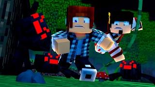Minecraft Origem #06 - ATAQUE DAS ARANHAS !!