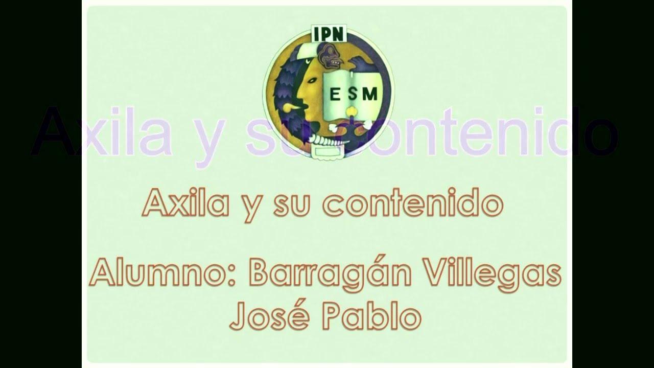 Axila y su contenido ESM IPN3 - YouTube