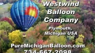 Christmas Gift ~ Pure Michigan ~ Hot Air Balloon Ride ~ http://www.PureMichiganBalloon.com