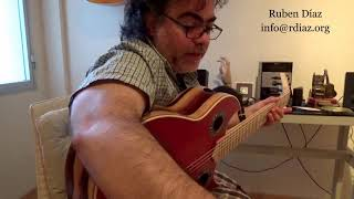 Learn slow Tangos from scratch n.1 / Flamenco guitar lessons in Malaga and via Skype/Ruben Diaz