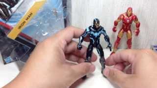 Marvel Universe Iron Man Black&Blue Rhodey Series 5 Toy Review 1