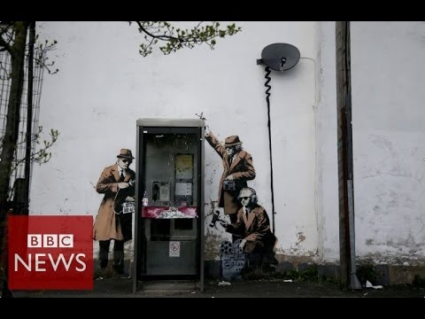 Is this Banksy's take on surveillance society? BBCNews