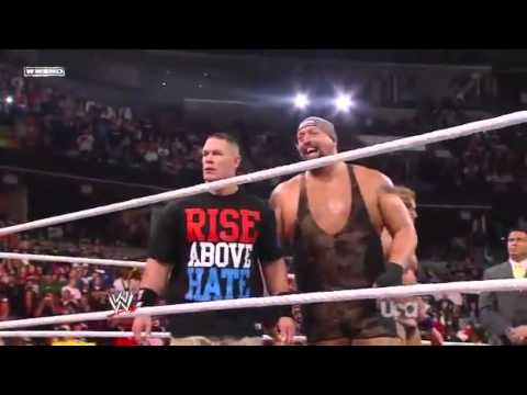 WWE RAW  6 man tag team match John Cena Zack Rayder Big show vs Kane Jack swagger and Mark Henry