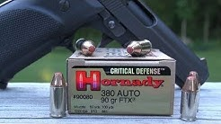 Hornady Critical Defense .380 ACP 90 gr Ammo Test