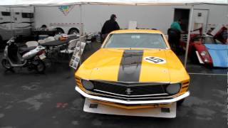 Ex-Parnelli Jones Trans-Am Mustang starting up at the 2010 Rolex Monterey Motorsports Reunion