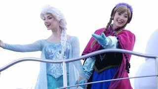 anna elsa frozen fantasy greeting parade tokyo disneyland japan 2015 東京ディズニーランド アナと雪の女王