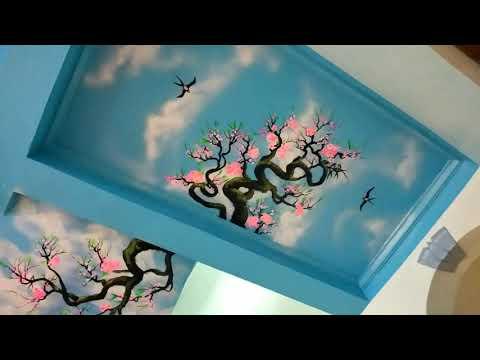 giá vẽ trần mây tại kienthuccuatoi.com