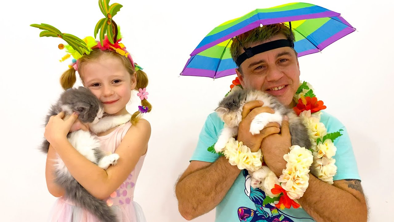 Nastya and dad are going to relax at sea