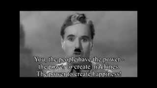 The Great Dictator Speech (by- Charlie Chaplin ) with Subtitles HD