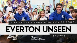 EVERTON UNSEEN #21: MINA TRAINS & DIGNE GOES BACK TO SCHOOL