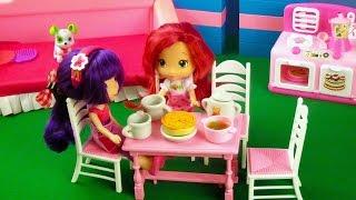 Мультфильмы для девочек. Земляничка с Вишенкой на кухне